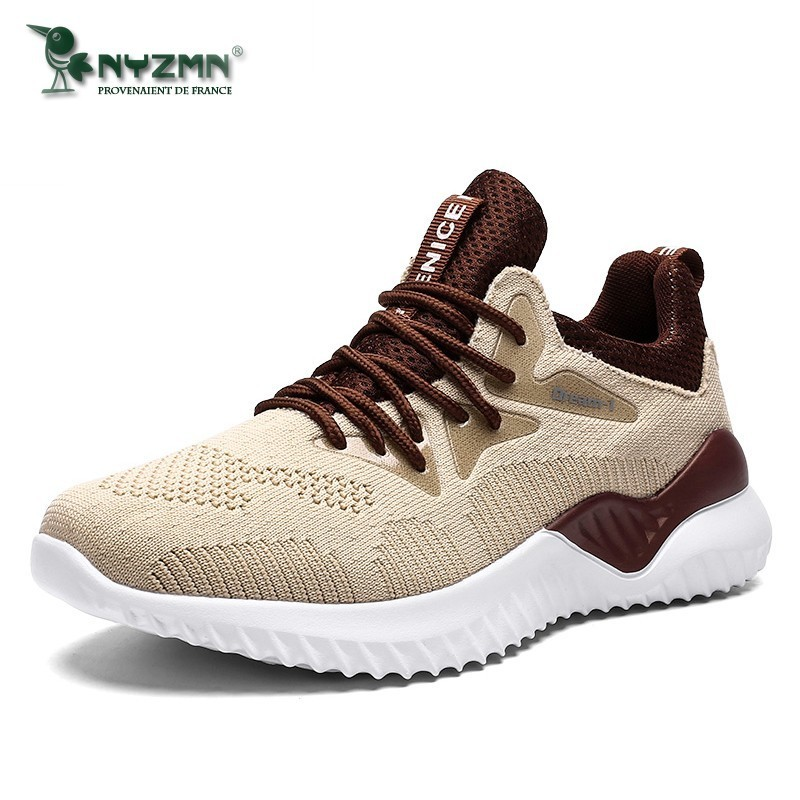 Breathable Flyknit Sneakers Men Casual Shoes For Adult Summer Autumn Male Jogger Footwear Walking Shoes Big Size 39 47
