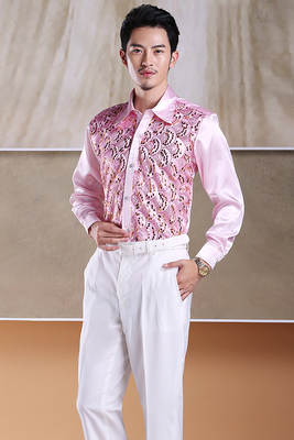 2018 new Men s glittering sequined shirt shirt stage performance clothing  dance gala hosted chorus Shirts high faaafefc7540