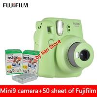 New 5 Colors Fujifilm Instax Mini 9 Instant Photo Camera + 50 sheet Fuji Instax Mini 8 White Film + Close up Lens