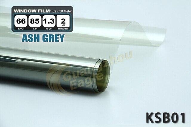 1.52 * 30 м высокую производительность при пэт автомобилей солнечная окно оттенок фильм окна фольга бесплатная доставка / эш серый / KSB-001