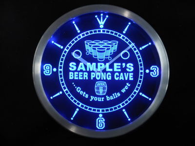 ncqr-tm Name Personalized Custom Beer Pong Cave Bar Beer Neon Sign LED Clock Wholesale Dropshipping