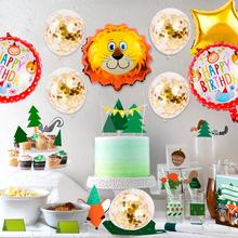 FENGRISE Birthday Party For Kids Jungle Safari Decoration Animal Balloons Decor Baby Shower Theme Supplies