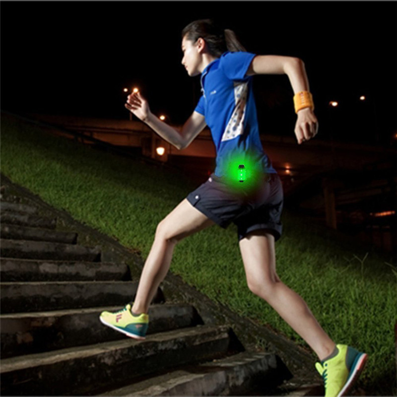 Night Running LED Safety Light Clip Kids Dogs Walking Reflective Gear Backpack Waist Outdoor Sport Cycling Warning Light