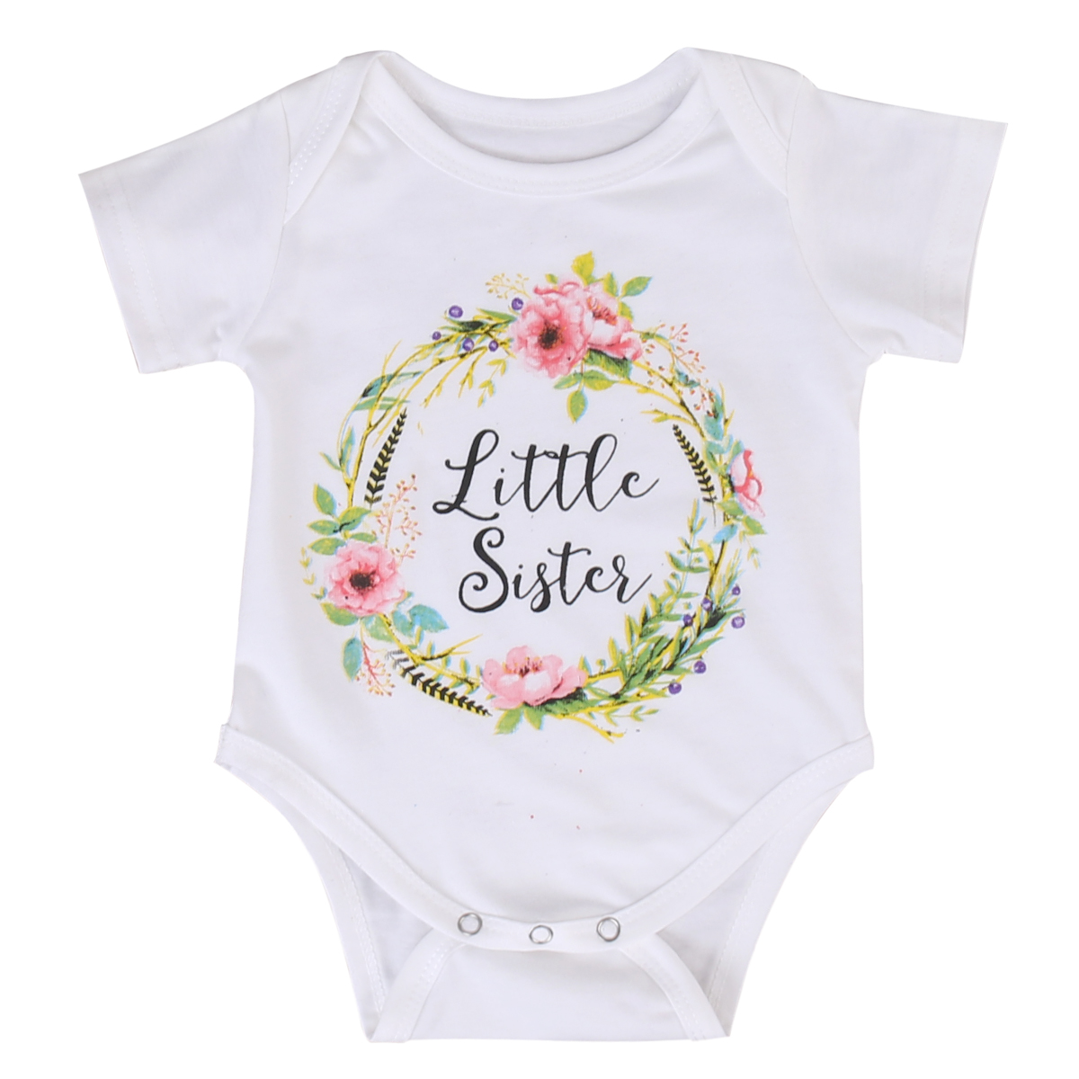 Pudcoco Baby Kids Girl Little Big Sister Match Clothes Bodysuit And T Shirt