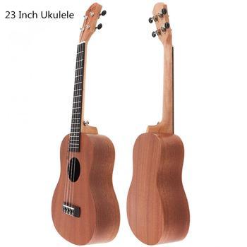 Sale 23 Inch Concert Ukulele Sapele Wood 18 Fret Hawaii Four Strings Guitar Ukelele Musical Instrument