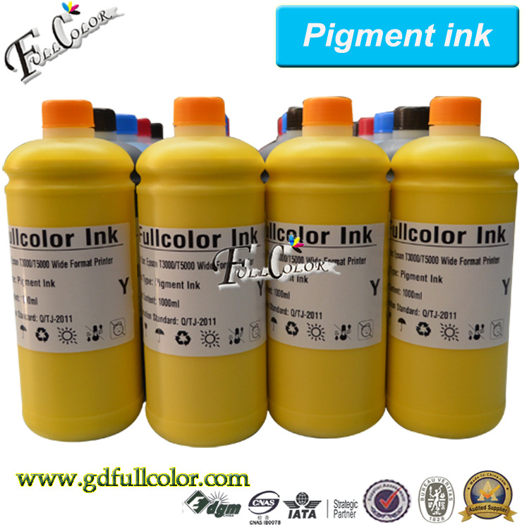 ФОТО 1000ml Bottle Refill ink for Epson SureColor T3200 T5200 T7200 Pigment ink for sale