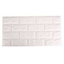 New White 3D Brick Wall Paper Modern Vintage Brick Stone Pattern Paper Wallpaper For Living Room Wall Covering Decor #92915