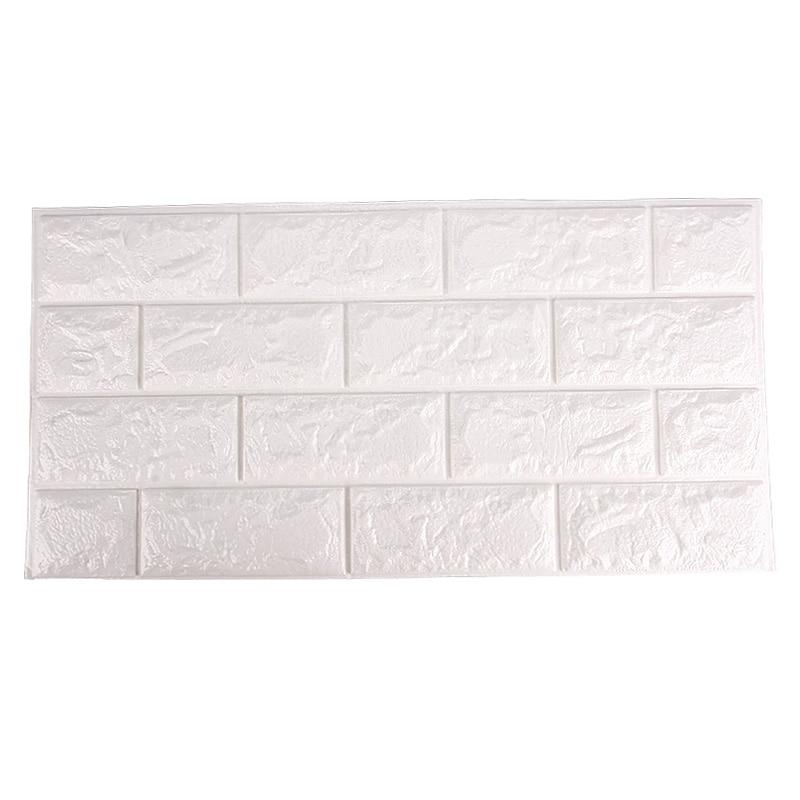 New White 60D Brick Wall Paper Modern Vintage Brick Stone Pattern Extraordinary Brick Pattern Paper