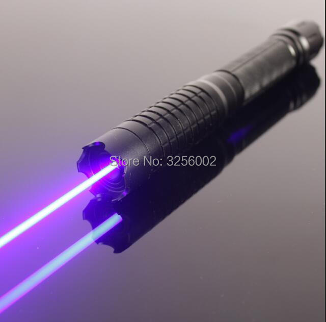 Military Blue Laser Pointers 5000m 450nm LAZER Flashlight Burning Match/dry wood/candle/black/Cigarettes+5 caps Hunting