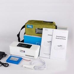 Batterie powered diabetes kühler kühlschrank Portebla diabetes kühlschrank display kühler Hause kleine kühlschrank mit gefrierfach LCD