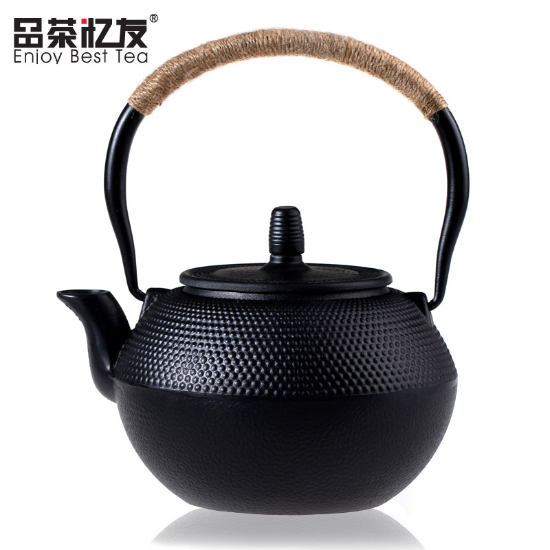 Cast iron pot of uncoated teapot Japan iron teapot South of the old iron pot of tea have pig iron pot of particlesCast iron pot of uncoated teapot Japan iron teapot South of the old iron pot of tea have pig iron pot of particles
