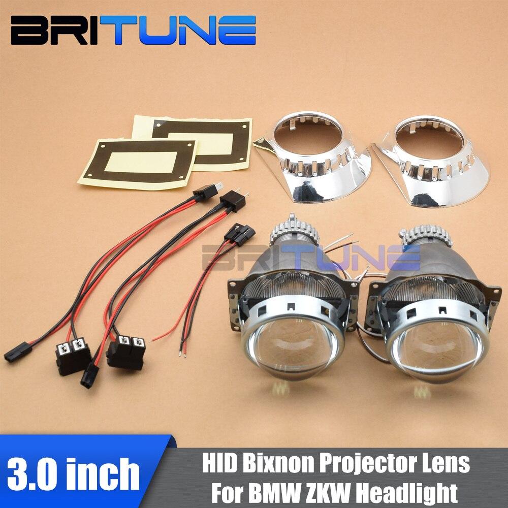 3.0 ''Q5 D2S Mini lentille de projecteur bi-xénon ZKW haubans pour BMW E46 modèles Auto phares voitures modification modifier le style d'assemblage