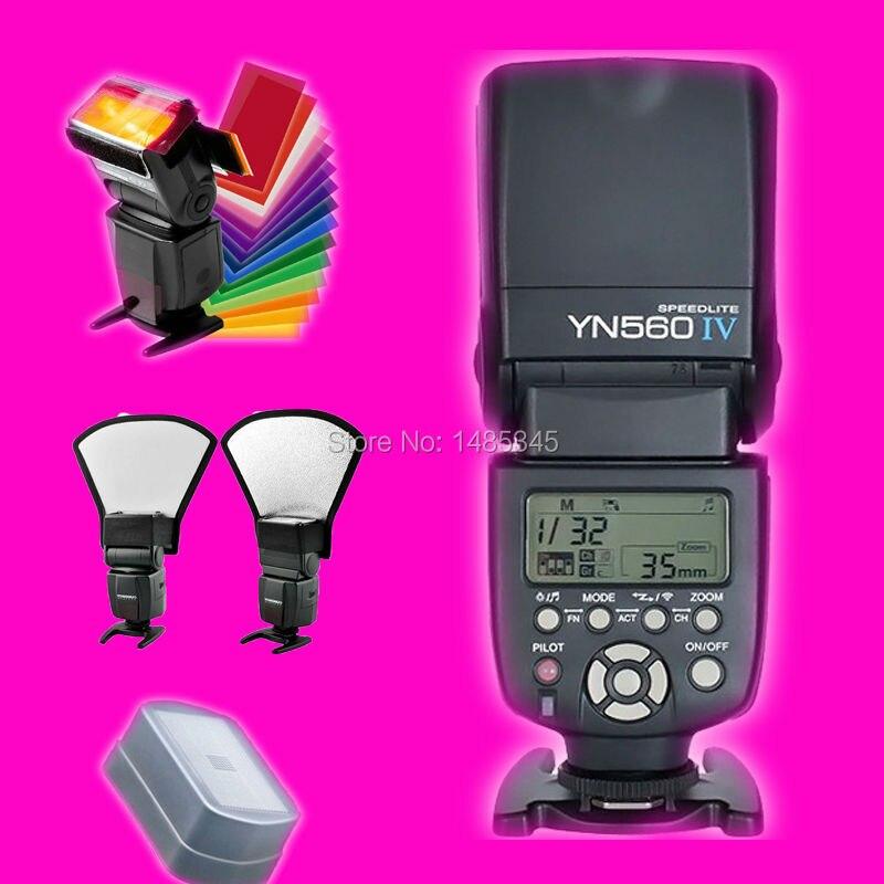 YONGNUO YN560 IV 2.4GHZ Integrado Transceptor Sem Fio Flash Speedlite para Canon Nikon Pentax Panasonic Câmeras + kits de presente