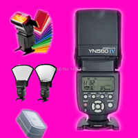 YONGNUO YN560 IV inalámbrico de 2,4 GHZ Flash Speedlite transceptor integrado para Canon Nikon Panasonic las cámaras Pentax + regalo kits