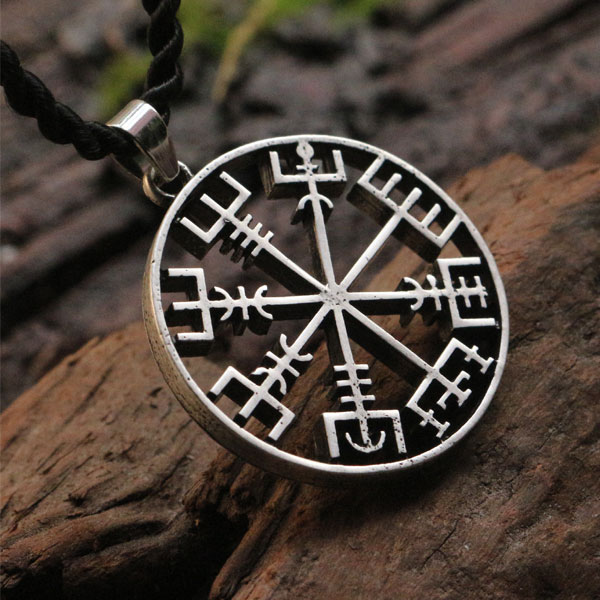 10pcs Wholesale Viking Runes Vegvisir Compass Pendant Vegvisir