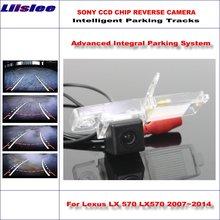 Liislee HD SONY Car Rear Camera For Lexus LX 570 LX570 2007~2014 Intelligent Parking Tracks Reverse Backup / NTSC RCA AUX все цены