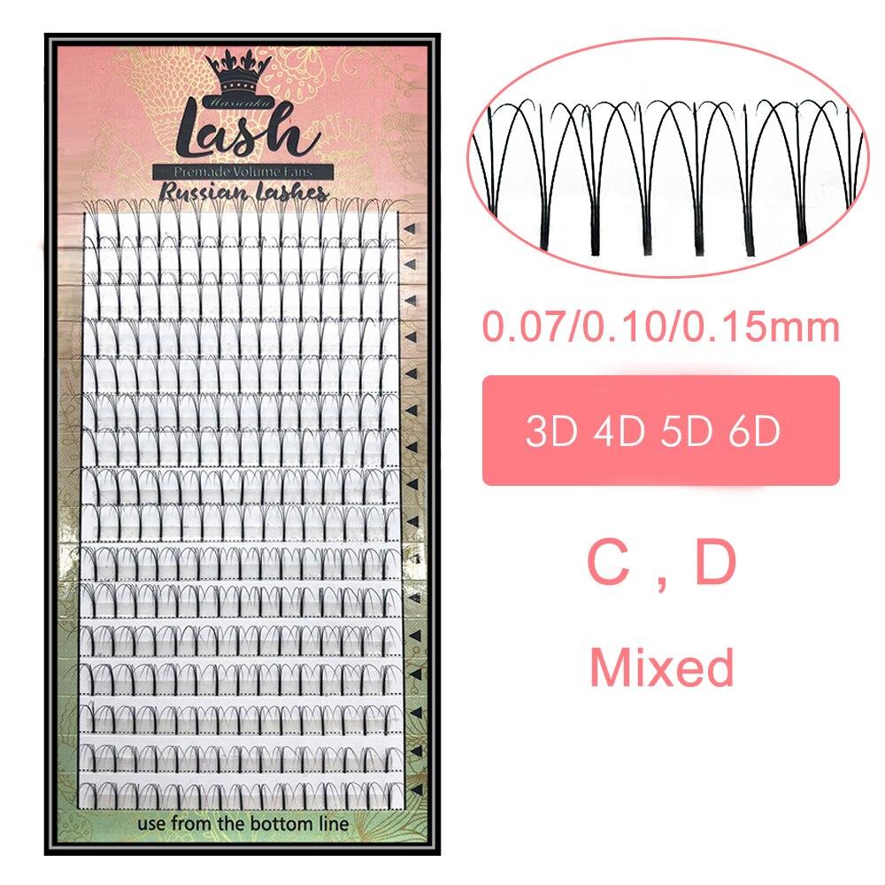 MAS Lashes 8-15 Mix 3d/4d/5d/6d Long Premade Fans Russian Volume Eyelash Extensions Natural Pre Made Lash Extension Supplies