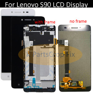 Image 1 - מקורי עבור Lenovo S90 LCD תצוגת מסך מגע Digitizer עצרת עם מסגרת S90 T S90 U S90 A lcd החלפת חלקים