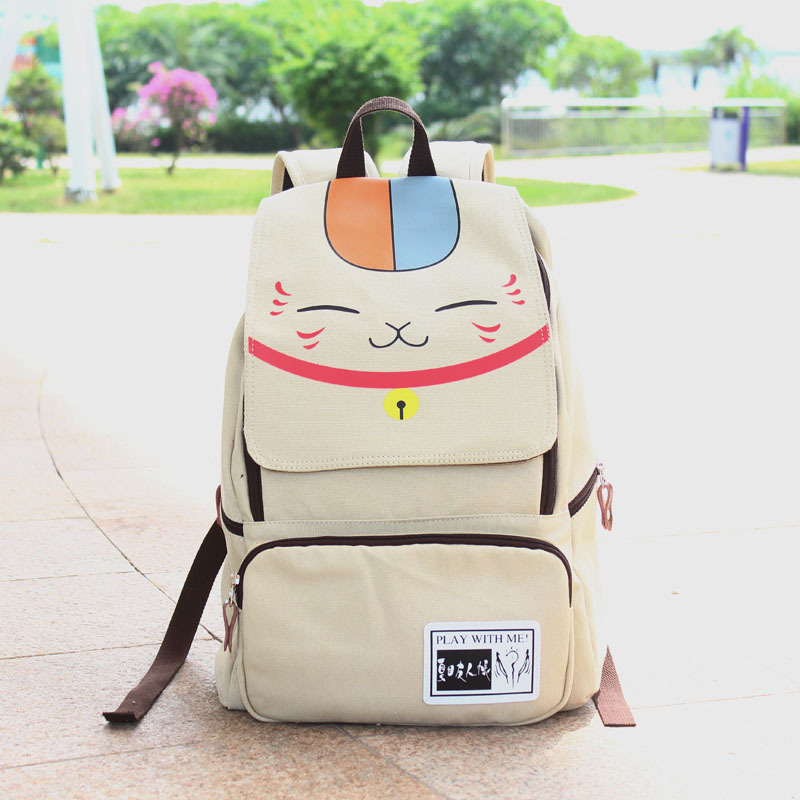 special price Hot anime Natsume Yuujinchou school backpacks canvas anime bag gift for fans