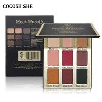 Cocosh彼女は9色マットアイシャドウパレット構成するセットパレット美容アイシャドウ化粧品マットアイシャドウパレッ