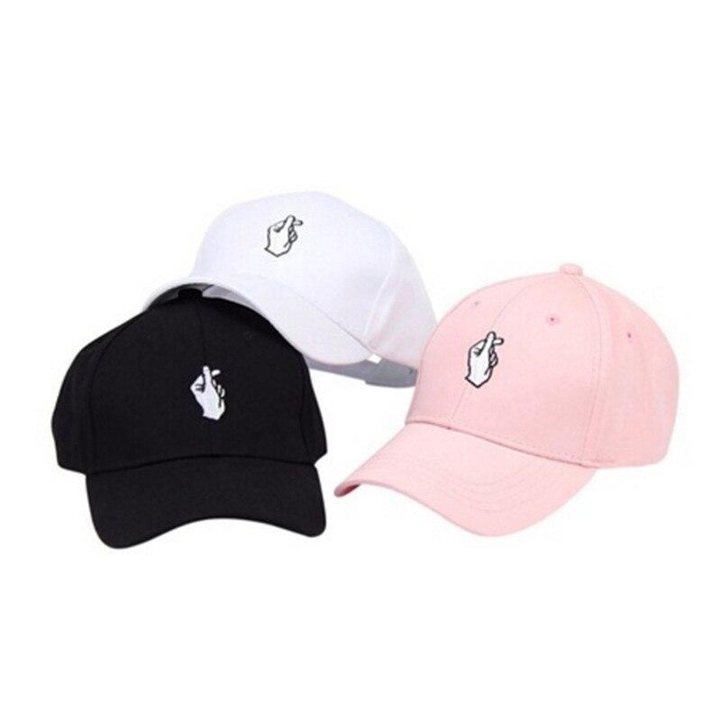Love Gestures Finger Embroider Golf Baseball Cap men women snapback hat Heart Love Sun Truck Hat