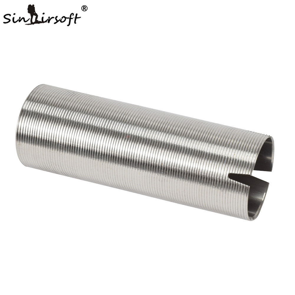 SINAIRSOFT Horizotal Thread Stainless Steel Cylinder Type-3 For Airsoft AEG Gearbox Smooth Inner