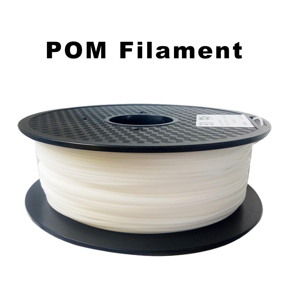 Filament flexible de Delrin d'acétal de POM 1.75mm 1 kg/2.2lbs pour des imprimantes 3D, couleur blanche