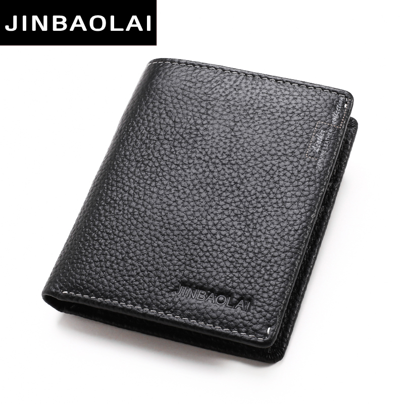 JINBAOLAI Famous Luxury Brand Genuine Leather Men Wallets Soft Casual Zipper Men Leather Wallet with Credit Card Holder carteira gzcz famous luxury brand genuine leather men wallets with card holder casual men s leather walet case purse portfolio cartera
