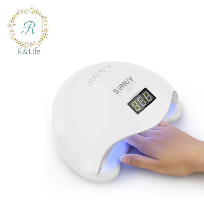SUNUV SUN5 48W UVLED Nail Dryer with Display Time&Sensor uv led Nail Lamp Fast Drying Cure All Gels For Gel Polish nail dryer