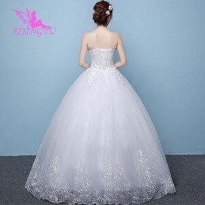 Image 4 - AIJINGYU 2021 braut neue heißer verkauf günstige ballkleid lace up zurück formale braut kleider hochzeit kleid WK450