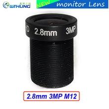 CCTV lenses 1/2.7inch 3MP 2.8mm M12 mount MTV Lens Fixed Aperture F2.0 For CMOS/CCD Sensor Security IP webcam/AHD/TVI/CVI Camera