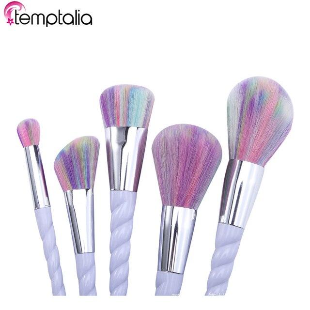 Temptalia 5 pcs Conjuntos de Pincéis de Maquiagem Rosto Corretivo Fundação Da Sombra de Olho compo a Escova Pincel de Blush pincel de maquiagem Make up Tools