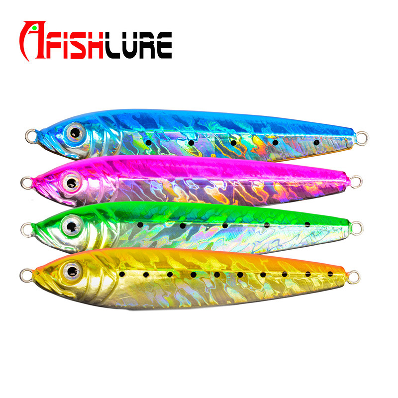 все цены на  Afishlure fishing spoon metal jig Iron plate fishing lure 16g/24g/30g/70g/123g artificial lure with 3D eyes lead Lead Jig Head  онлайн