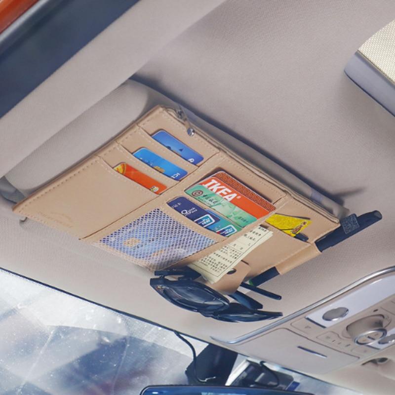 حامل واقي من الشمس للسيارة منظم متعدد الوظائف الحقيبة لجهاز Geely Vision SC7 MK CK Cross Gleagle SC7 Englon SC3 SC5 SC6 SC7 Panda