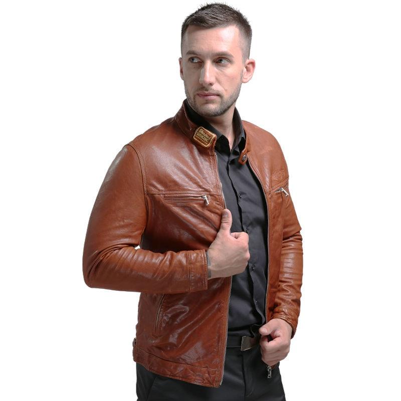 AIBIANOCEL Brand New Lederjacke Winter Echtes Leder Herren Jacke - Herrenbekleidung - Foto 2
