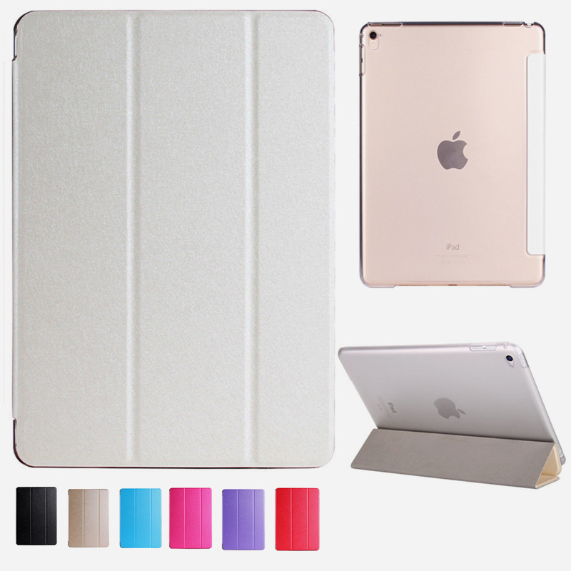 Leather Case For Ipad Pro 11 Air 2 Soft TPU Back Cover Ultra Slim Scratch-Resistant Stand Smart Case For Ipad 6 A1566 A1567