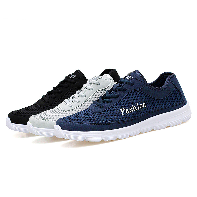 New summer fashion men casual shoes big size 38-48 breathable black gray blue light trainner shoes sapato masculino casual shoes men breathable new fashion men dress shoes good quality working shoes size 38 44 aa30064
