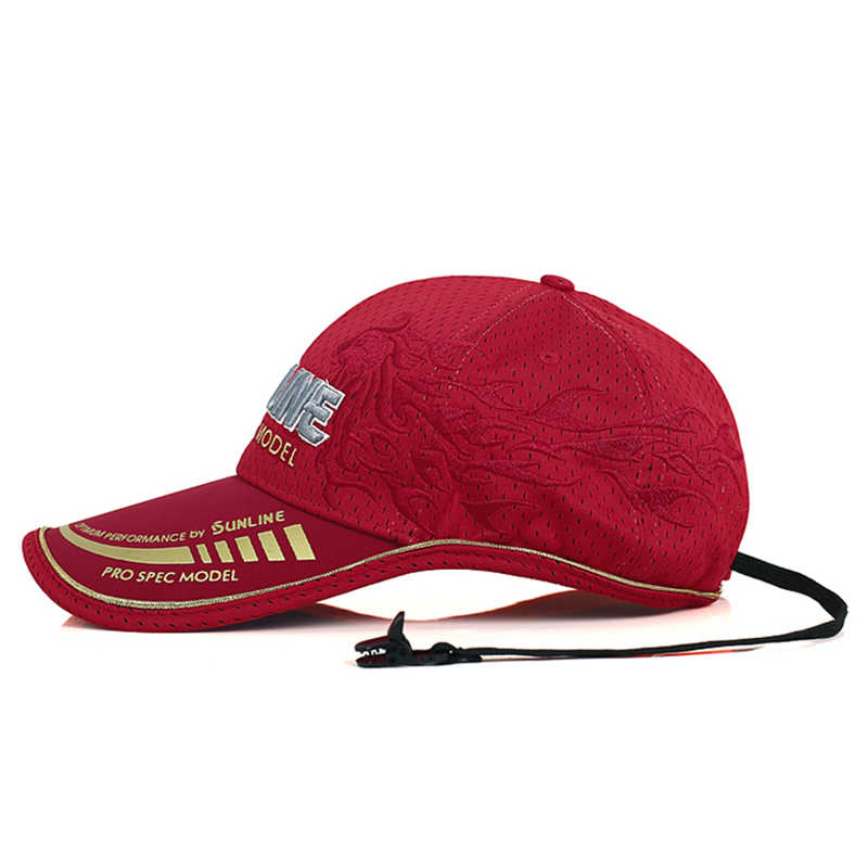 SUNLINE dorosłych mężczyzn regulowany oddychający kapelusz wędkarski japonia parasolka Sport Baseball rybacy czapka czarny specjalne wiadro Fising czapki