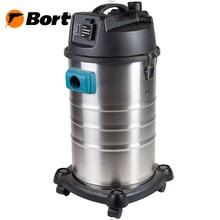 Пылесос универсальный Bort BSS-1230 (Мощность 1200 Вт, возможность подключения инструмента, двигатель с низким уровнем шума, большая сила всасывания, встроенный контейнер для насадок, функция выдува)