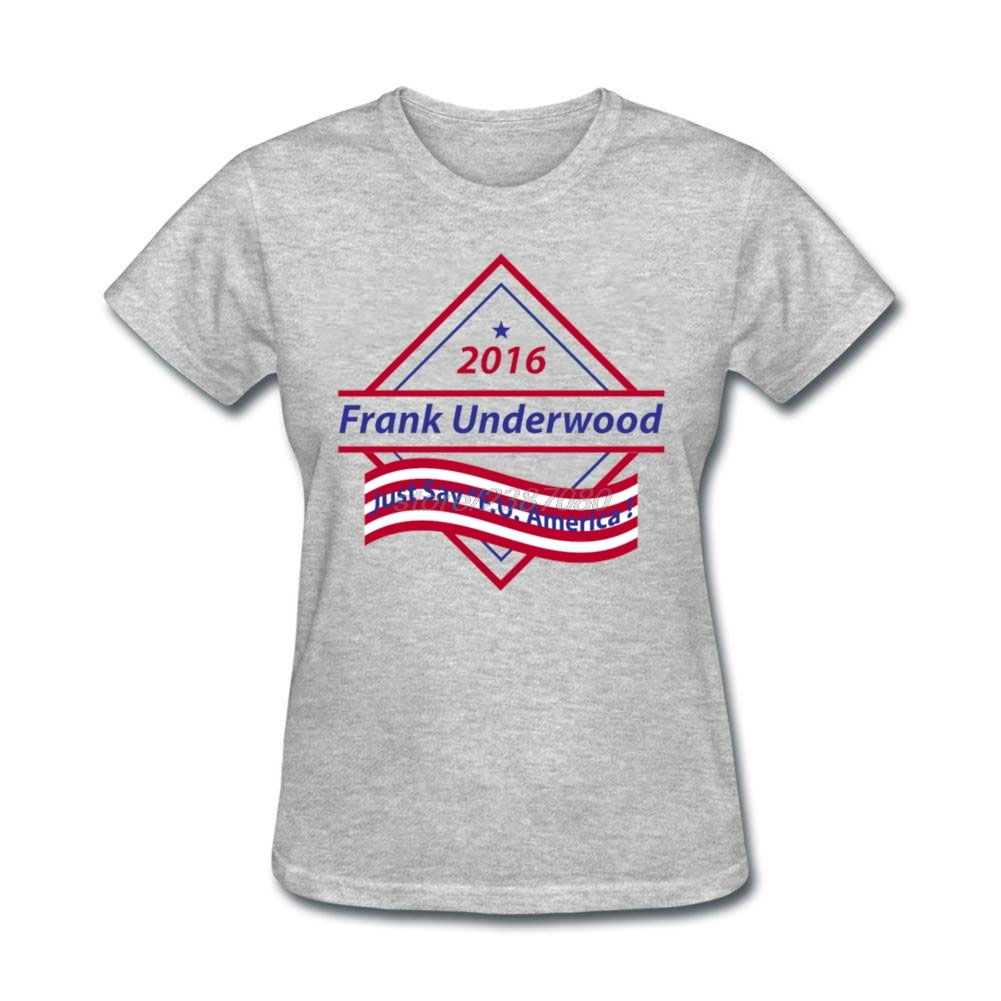 Desain t shirt unik - Hot Jual Frank Underwood Menarik Remaja T Shirt Desain Kapas Alami Hot Murah T Shirt