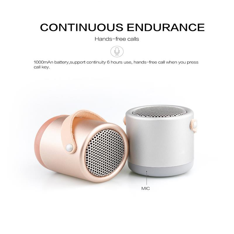 Original Mini Portable Bluetooth Speaker TF Card Support Phone Music Play  Three Color HIFI Sound Effect Subwoofer With Mic-in Portable Speakers from