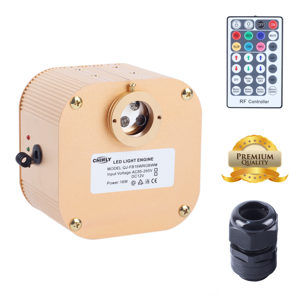 CREE chip 16W RGBW LED twinkle Fiber Optic Engine Driver with 28key RF Remote controller for all kinds fiber optics 2016 new rgbw 16w led fiber optic engine driver with 28key rf remote controller for all kinds fiber optics