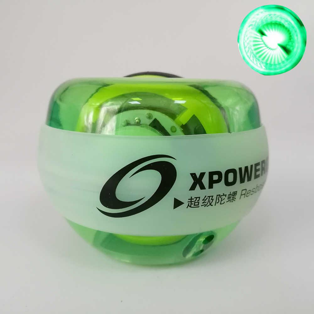 Resbo 30LBS светодиодный запястье мяч гироскоп Autostart Force Spinning Мощность наручные укрепление мяча ротора тренажерный зал рук тренажер гироскопа мяч