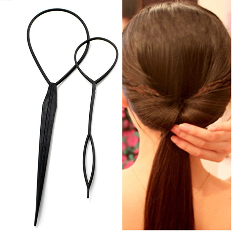 Aliexpresscom 2 Größe Haar Schwanz Twister Frisur Band Schwarz
