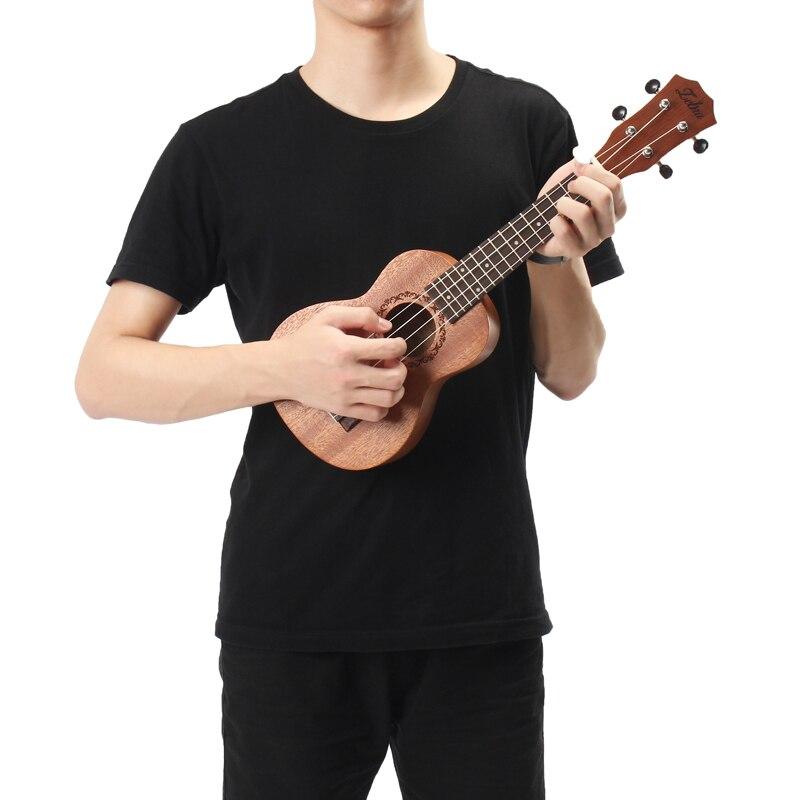 21 inčni 15 fretova mahagoni sopran ukulele gitara sapele ružino - Glazbeni instrumenti - Foto 6