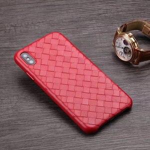 Image 5 - Moda tkane wzór prawdziwej skóry etui do iPhone XS MAX/ XS/ X/ XR oryginalny telefon pokrywa dla iPhone 11 Pro XS MAX powrót przypadku