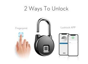 Image 3 - Cadenas intelligent de serrure de Bluetooth portatif serrure dempreinte digitale sans clé cadenas de porte de sécurité antivol pour la valise de tiroir de sac