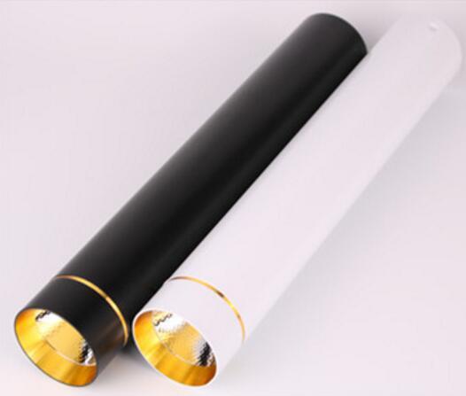 Dimmable Monté par Surface spot de plafonnier à LED cob 20 W LED Vers Le Bas Des Lumières AC110V/220 V plafonnier Blanc/Noir Couleur De Logement