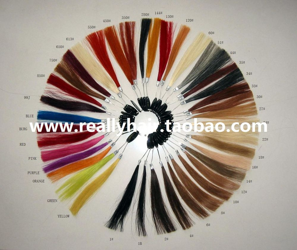 ФОТО Pure human hair color board