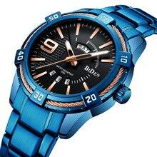 Новые мужские s часы лучший бренд класса люкс кварцевые часы мужские Календарь Неделя синий военные водонепроницаемые спортивные наручные часы Relogio Masculino
